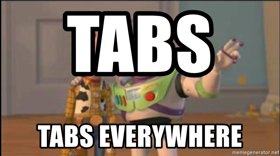 X, X Everywhere  - tabs     Tabs Everywhere