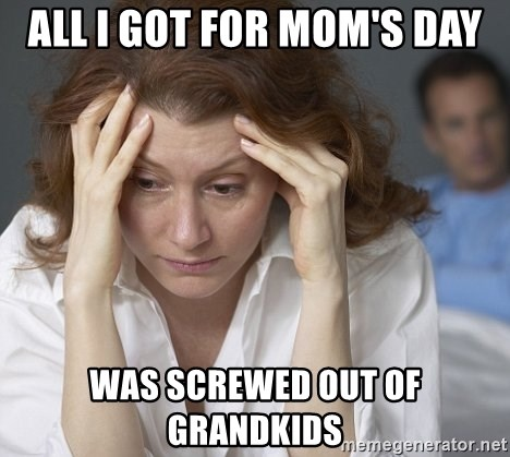 Single Mom - All I got for Mom's Day was screwed out of grandkids