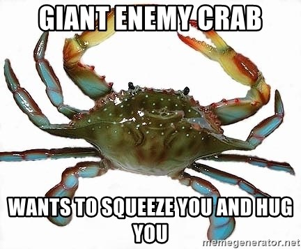Boss Crab - Giant enemy crab wants to squeeze you and hug you