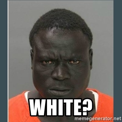 big black man in a jail -  White?