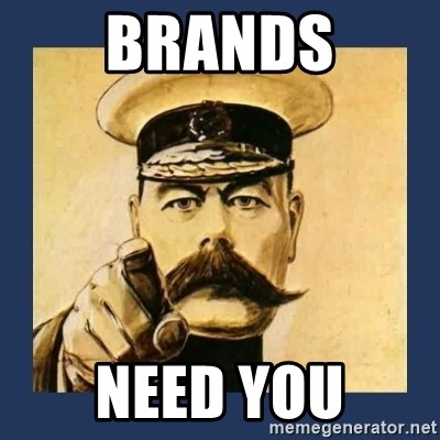 your country needs you - brands Need you