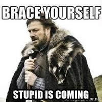 meme Brace yourself -  stupid is coming