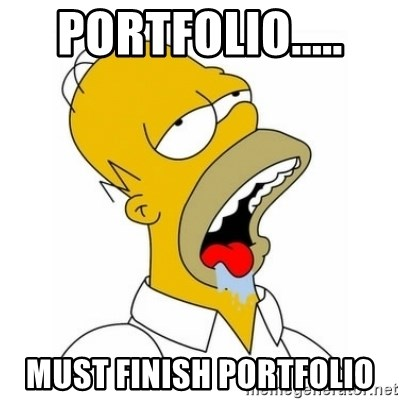 Homer Simpson Drooling - Portfolio.....  Must finish portfolio