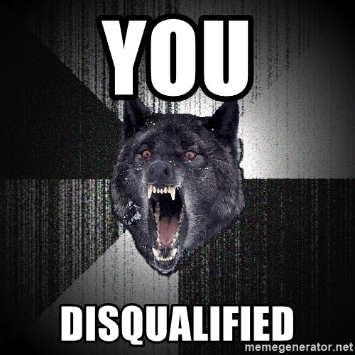 Insanity Wolf - You disqualified