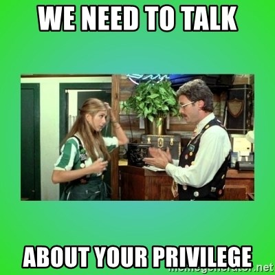 Office Space Flair - We need to talk about your privilege