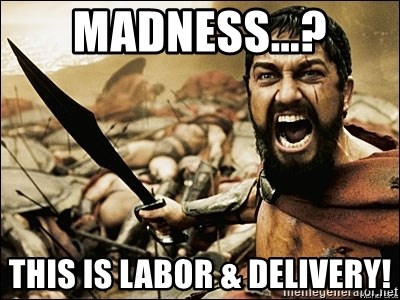 Madness This Is Labor Delivery This Is Sparta Meme Meme