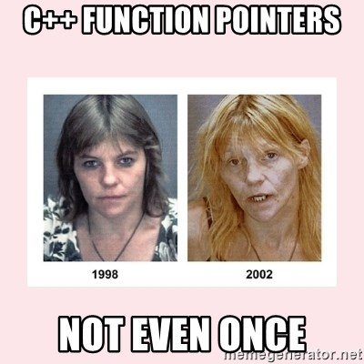 C Function Pointers Not Even Once Not Even Once Meme Generator