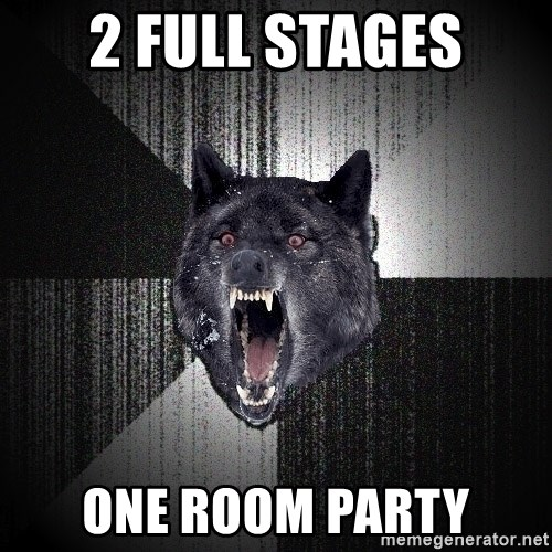 Insanity Wolf - 2 full stages One room party