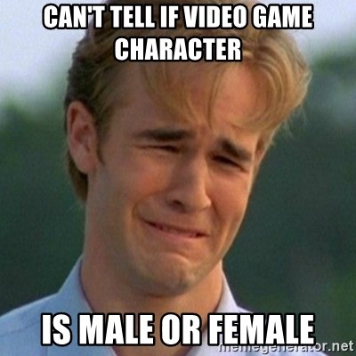 90s Problems - can't tell if video game character is male or female