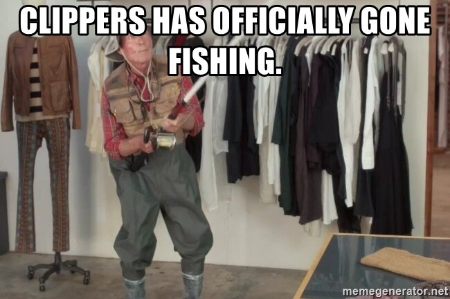 State Farm Fisherman - Clippers has officially gone fishing.
