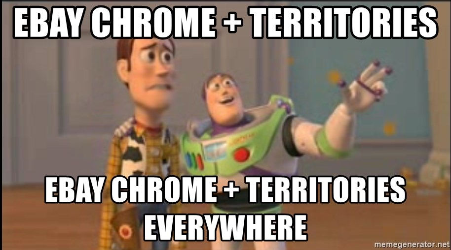 X, X Everywhere  - ebay Chrome + territories EBAY CHROME + TERRITORIES everywhere