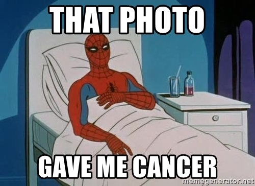 spiderman hospital - That photo gave me cancer
