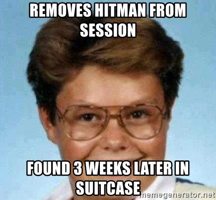 good luck larry hd - removes hitman from session found 3 weeks later in suitcase