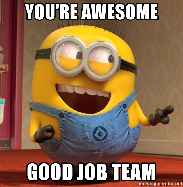 Amazing Great Job: You're Awesome Good Job Team - Dave Le Minion