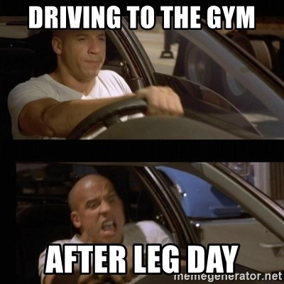 Vin Diesel Car - Driving To The Gym After Leg Day