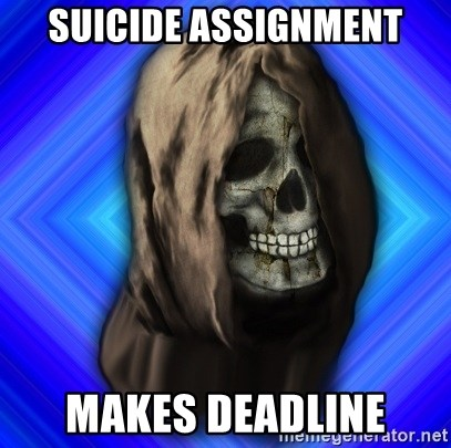 Scytheman - suicide assignment makes deadline