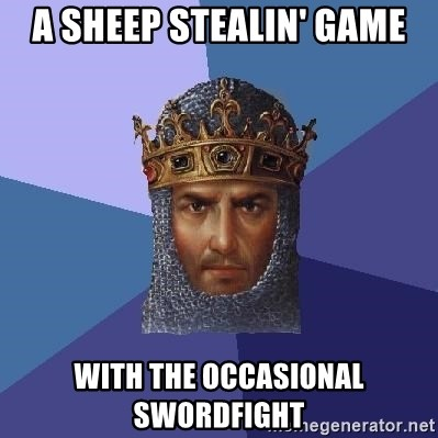 Age Of Empires - a sheep stealin' game with the occasional swordfight