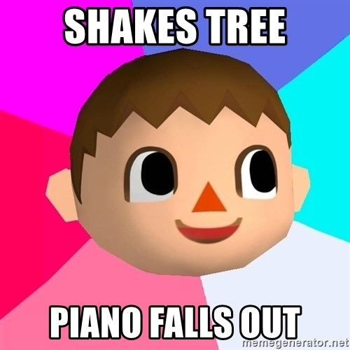 Animal Crossing - Shakes tree piano falls out