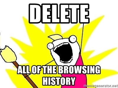 X ALL THE THINGS - DELETE ALL OF THE BROWSING HISTORY