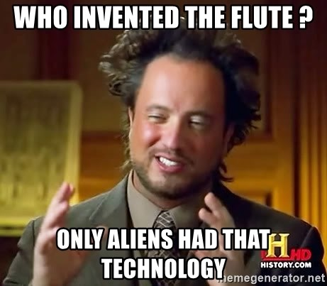 Giorgio A Tsoukalos Hair - WHo INVENTED the FLUTE ? ONLY ALIENS HAd THAT TECHNOLOGY