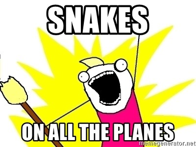 X ALL THE THINGS - Snakes ON ALL THE PLANES