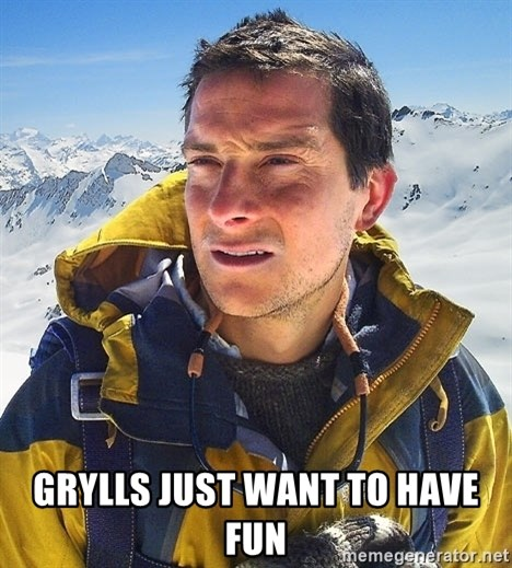Bear Grylls Loneliness - gRYllS JUST WANt to have fun