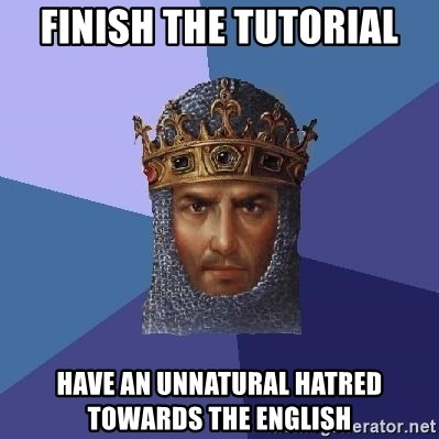 Age Of Empires - Finish the tutorial have an unnatural hatred towards the english