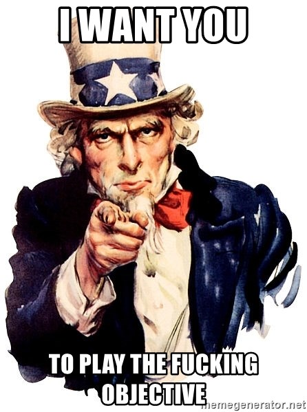 Uncle Sam Point - i want you to play the fucking objective