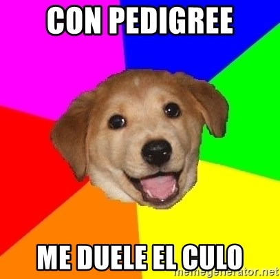 Advice Dog - con pedigree me duele el culo