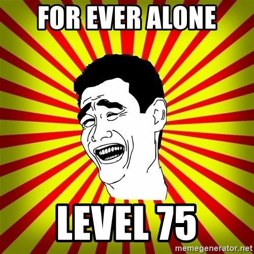 Yao Ming trollface - for ever alone level 75