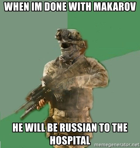 philosoraptor call of duty - When Im Done with makarov He will be RUSSIAN to the Hospital
