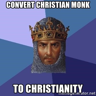 Age Of Empires - convert christian monk to christianity
