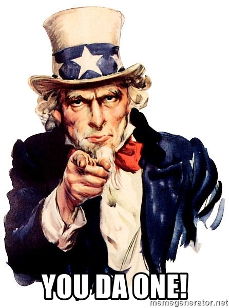 Uncle Sam Point - YOU DA ONE!