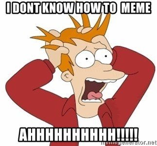 Fry Panic - i dont know how to  meme AHHHHHHHHHH!!!!!