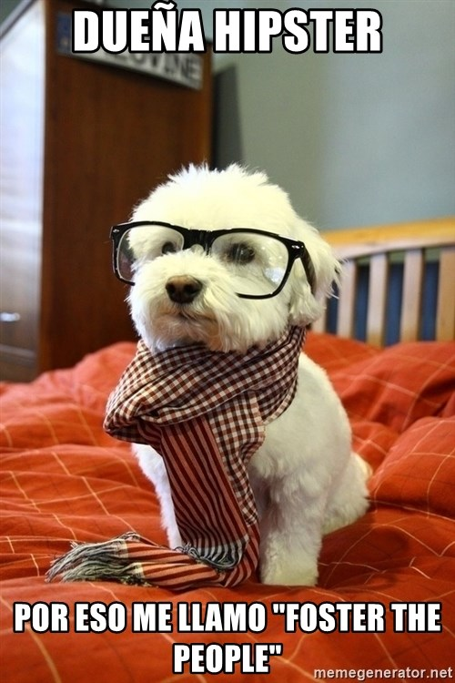 """hipster dog - dueña hipster por eso me llamo """"foster the people"""""""