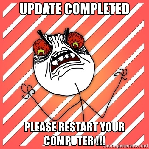 iHate - update completed please restart your computer !!!
