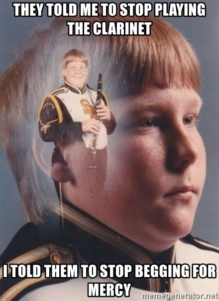 PTSD Clarinet Boy - they told me to stop playing the clarinet i told them to stop begging for mercy