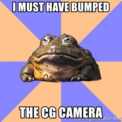 Game Art Student Bullfrog - I must have bumped the cg camera