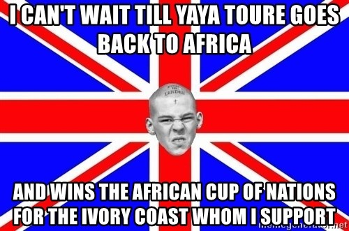 Mad Skin - I can't wait till yaya toure goes back to africa and wins the african cup of nations for the ivory coast whom i support