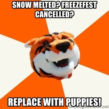 Idea Ritchie - Snow melted? freezefest cancelled? Replace with puppies!