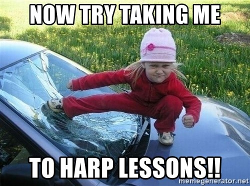 Angry Karate Girl - Now Try taking me To Harp Lessons!!