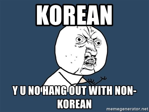 Y U No - korean y u no hang out with non-korean