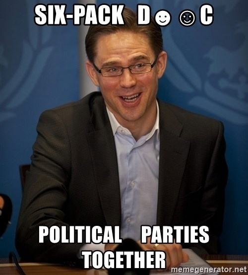 Katainen Perkele - six-pack   D☻☺c political     parties    together