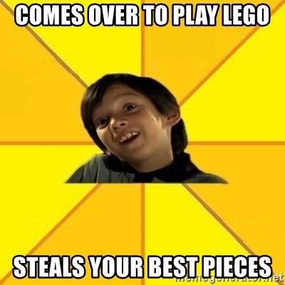 es bakans - Comes over to play lego steals your best pieces