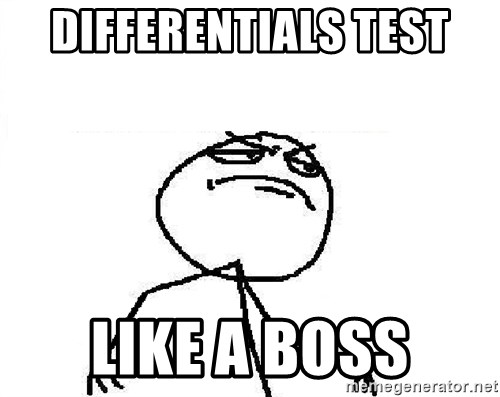 Fuck Yeah - Differentials test like a boss