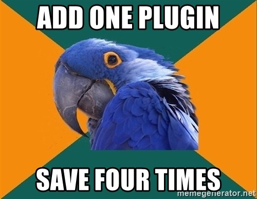 Paranoid Parrot - add one plugin save four times