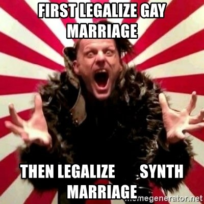 Advice Zoog - first legalize gay marriage then legalize        synth marriage