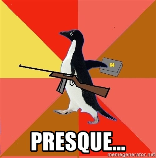 Socially Fed Up Penguin - Presque...
