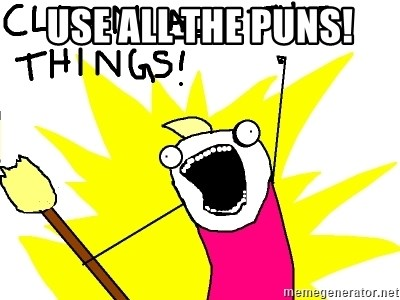 clean all the things - use all the puns!