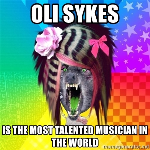 Insanity Scene Wolf - oli sykes is the most talented musician in the world